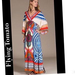 Kimono Maxi Dress Boho Bohemian Aztec
